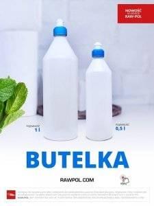 Butelka z tworzywa dozownik 1L