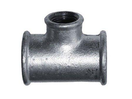 Trójnik ocynk ocynkowany redukcyjny 6/4x1/2 cala